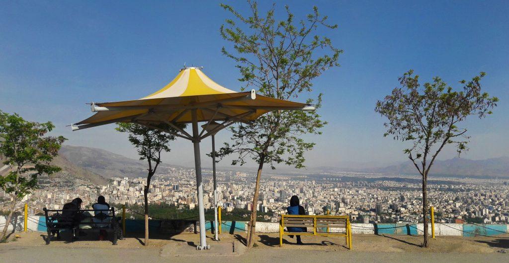 Backpackers in Tehran